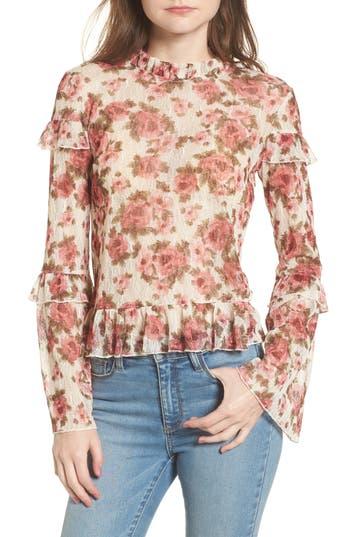 Women's Bp. Ruffle Floral Lace Top