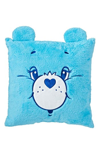 The Land Of Nod Care Bears(TM) Throw Pillow, Size One Size - Blue