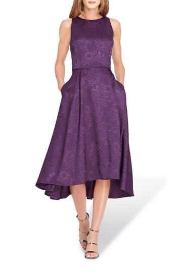 Women's Tahari Sleeveless Jacquard Fit & Flare Dress, Size 12 - Purple