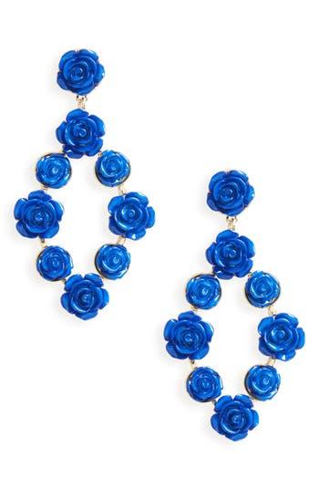 Women's Bp. Enamel Flower Drop Earrings