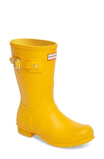 Women's Hunter 'Original Short' Rain Boot, Size 6 M - Yellow