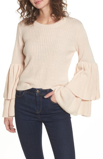 Women's Devlin Tiara Bell Sleeve Sweater, Size X-Small - Pink