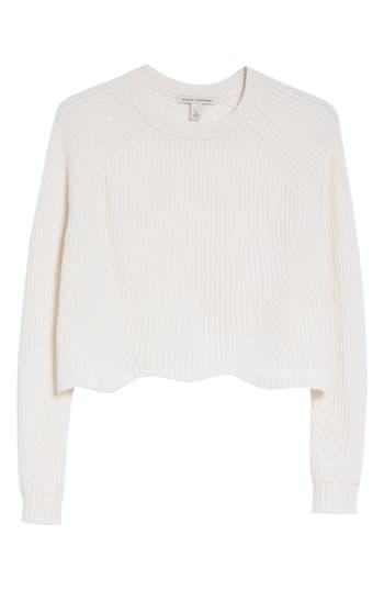 Women's Autumn Cashmere Cashmere Scalloped Shaker Sweater
