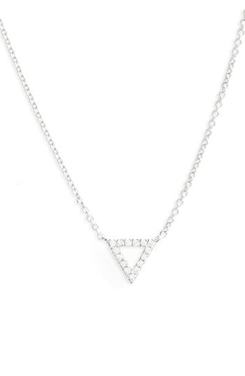 Women's Bony Levy 'Prism' Diamond Small Triangle Pendant Necklace (Nordstrom Exclusive)