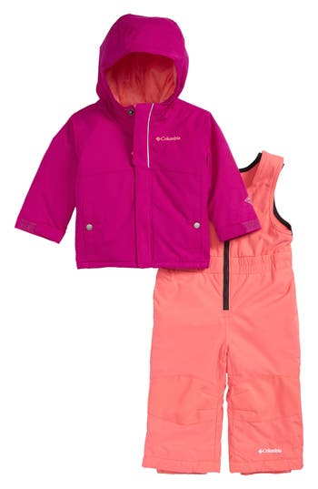Infant Girl's Columbia Buga Waterproof Insulated Jacket & Snow Bib