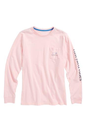 Boy's Vineyard Vines Vintage Whale Long Sleeve Pocket T-Shirt