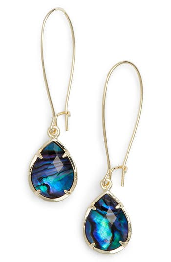 Kendra Scott Dee Teardrop Earrings Abalone S Gold