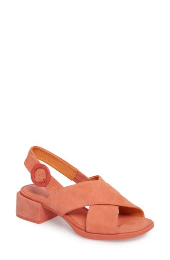 Camper Kobo Cross Strap Sandal, Pink