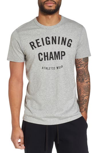 Reigning Champ Gym Logo T-Shirt, Grey