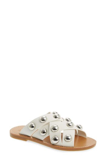 Marc Fisher Ltd Raidan Studded Sandal, White