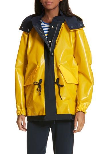 Tory Sport Reversible Rain Jacket, Yellow