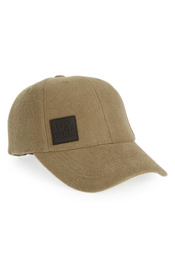 Ivy Park LOOPBACK JERSEY BASEBALL CAP - GREEN