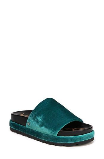Sam Edelman Shaye Slide Sandal, Blue/green