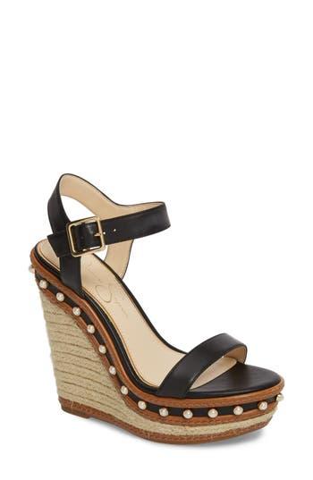 Jessica Simpson Arly Espadrille Wedge Sandal, Black