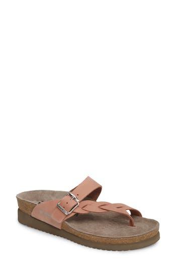 Women's Mephisto 'Helen Twist' Nubuck Leather Sandal, Size 6 M - Pink