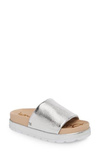 Sam Edelman Shaye Slide Sandal, Metallic