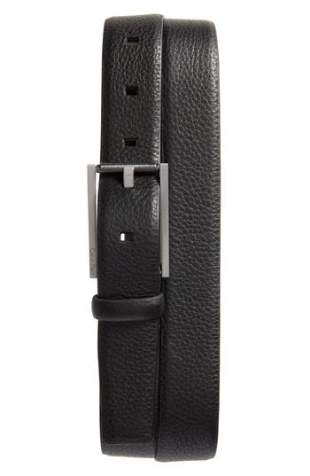 Calvin Klein Pebbled Leather Belt, Black