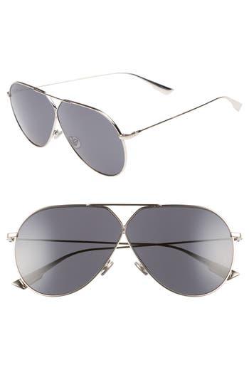 Christian Dior 65Mm Aviator Sunglasses - Light Gold