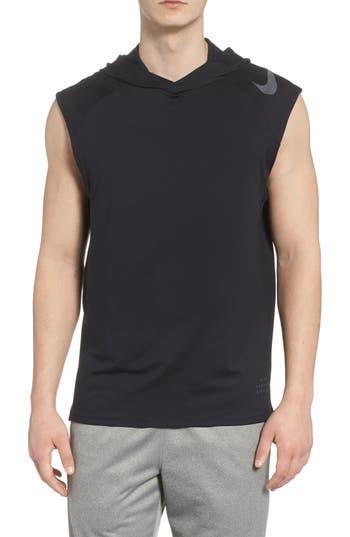 Nike Dry Element Sleeveless Hoodie, Black