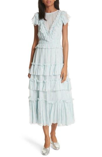 Rebecca Taylor Metallic Clip Dress, Blue