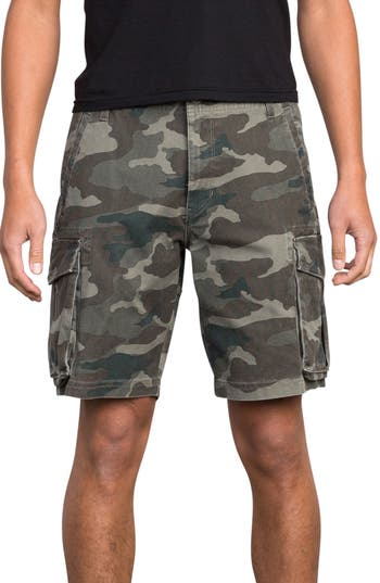 Rvca Wannabe Cargo Shorts, Green
