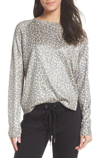 Ragdoll Leopard Print Sweatshirt, Beige