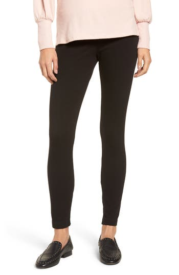 Lysse High Waist Denim Leggings, Black