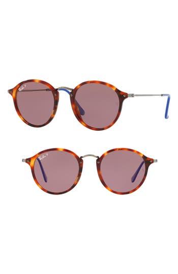 Ray-Ban 4m Polarized Round Sunglasses - Red Havana