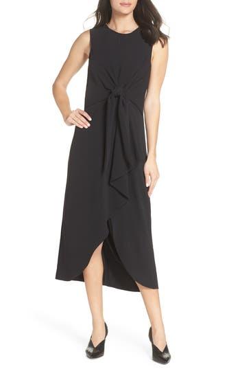 Sam Edelman Tie Front Midi Dress, Black