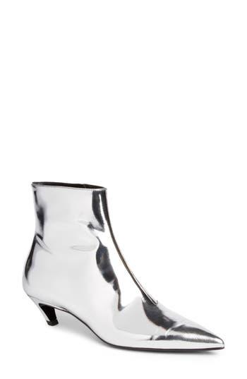Balenciaga Metallic Pointy Toe Bootie, Metallic