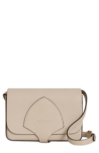 Burberry Hampshire Leather Crossbody Bag - Beige