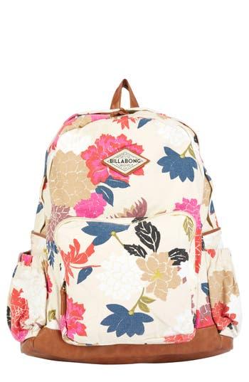 Billabong Home Abroad Floral Print Backpack - Ivory