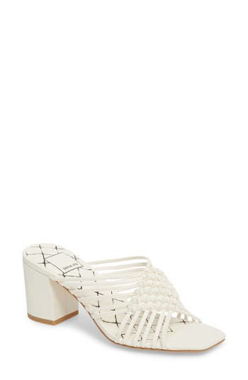 Dolce Vita Delana Knotted Mule Sandal- White