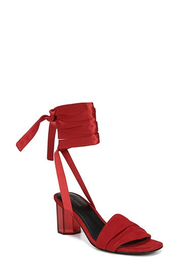 Via Spiga Nova Ankle Wrap Sandal- Red