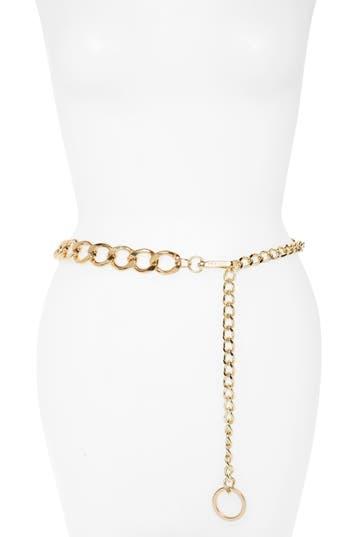 Steve Madden Chain Link Belt, Gold