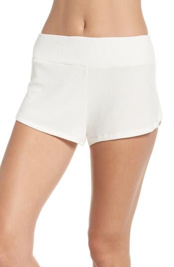 Eberjey Elon Track Pajama Shorts, Ivory
