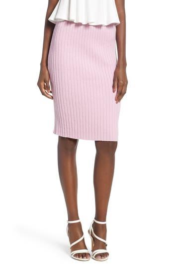 Leith Rib Knit Skirt, Purple