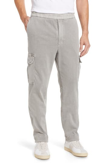 James Perse Cotton Jersey Relaxed Fit Cargo Pants, Grey