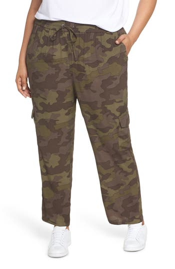 Plus Size Bp. Camouflage Cargo Pants, Brown
