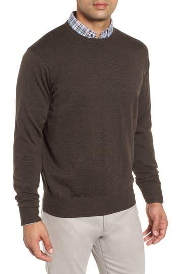 Peter Millar Crown Wool & Silk Sweater, Metallic