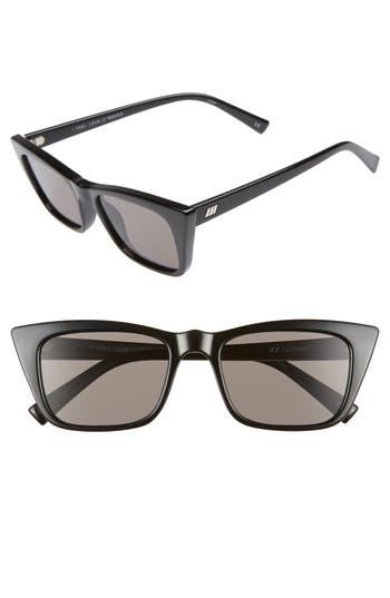 Le Specs I Feel Love 51Mm Cat Eye Sunglasses - Black
