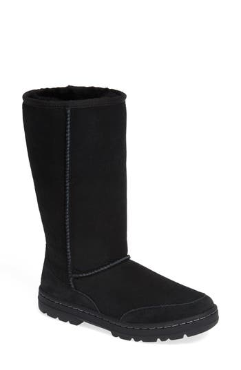 Ugg Ultra Revival Genuine Shearling Tall Boot, Black