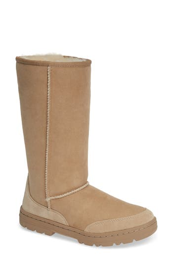 Ugg Ultra Revival Genuine Shearling Tall Boot, Sand