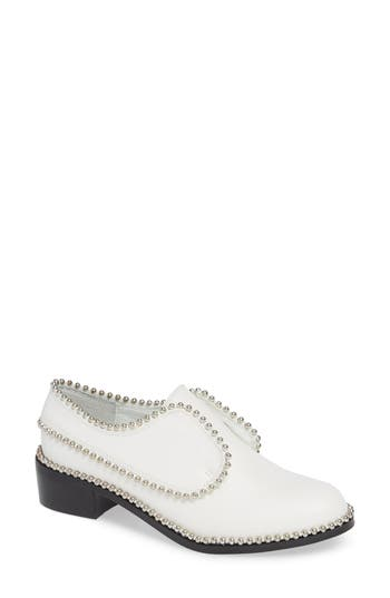 Matisse Alexa Beaded Laceless Derby, White