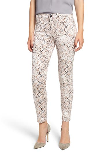 Jen7 PRINTED SKINNY ANKLE JEANS