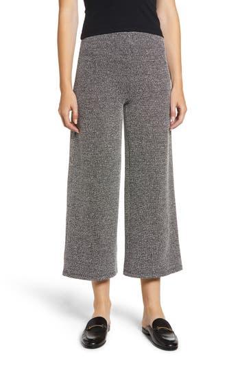 Chloe & Katie Knit Crop Flare Pants, Black