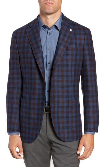 L.B.M. L.B.M 1911 Classic Fit Check Wool Sport Coat in Blue