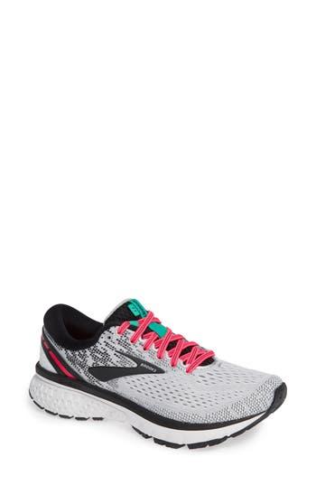 Ghost 11 Running Shoe, White/ Pink/ Black