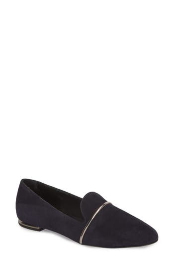 AGL ATTILIO GIUSTI LEOMBRUNI Smoking Slipper, Navy Leather