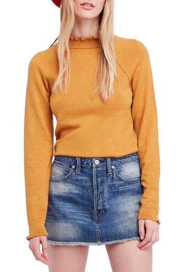Free People Needle & Thread Merino Wool Sweater, Metallic